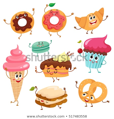 Happy Chocolate Donut Cartoon Character Stock photo © hittoon