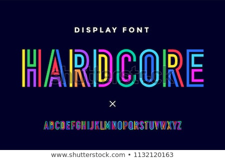 Colorful font. Colorful condensed alphabet and font Stock photo © FoxysGraphic