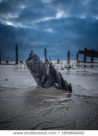 Onweerswolken humeurig oceanen horizon woede rotsen Stockfoto © lovleah