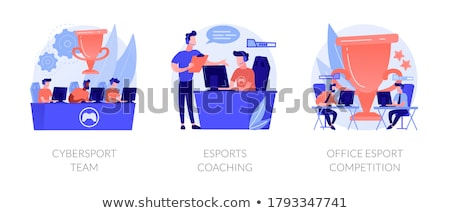 Esports coaching concept vector illustration Stock photo © RAStudio
