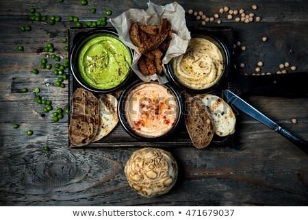 çanak ahşap masa tortilla cips gıda arka plan Stok fotoğraf © Alex9500