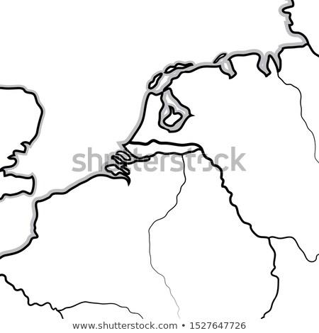 Pokaż Niderlandy Belgia Luksemburg benelux geograficzny Zdjęcia stock © Glasaigh