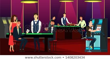 játékautomata · szett · vektor · nagy · győzelem · szalag - stock fotó © robuart