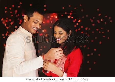 happy raksha bandhan indian brother and sister festival Stock photo © SArts