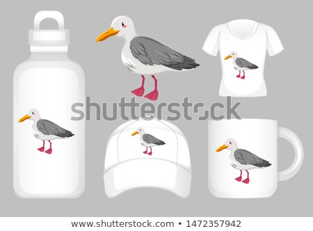 Many product design with pigeon graphic Stock photo © bluering