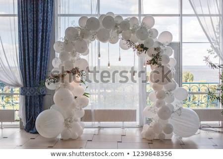 Nadmuchiwane balon dekoracji strony imprez urodziny Zdjęcia stock © robuart