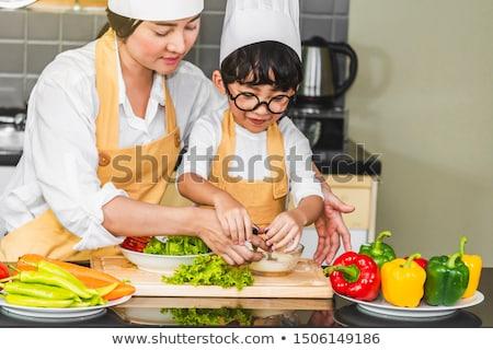 feliz · mulher · tomates · espaguete · verão - foto stock © freedomz