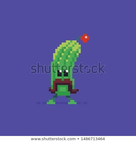 Pepino bigote aislado carácter icono vector Foto stock © robuart