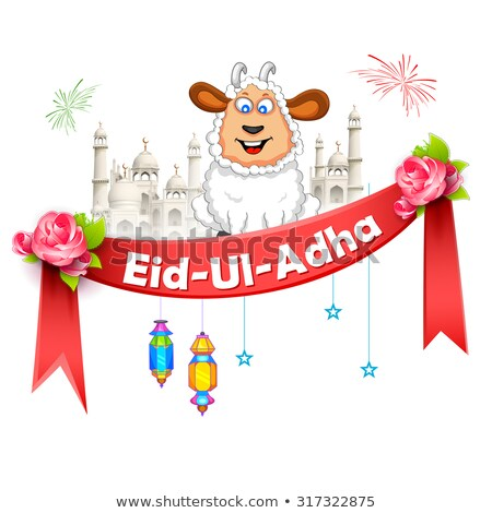 Ovejas feliz festival Islam Foto stock © vectomart
