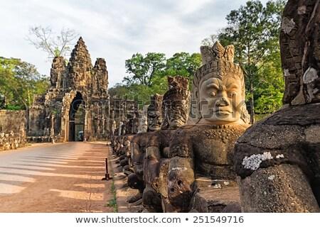 angkor · pormenor · parede · alívio · um · templo - foto stock © lichtmeister
