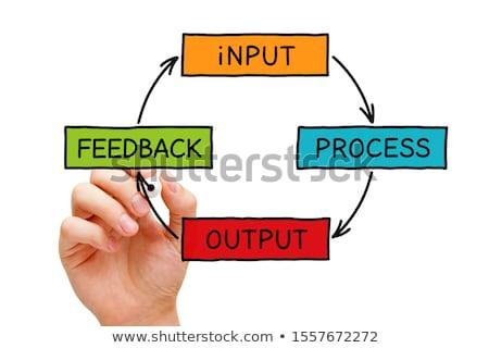 Input Process Output Feedback Diagram Concept Stock photo © ivelin