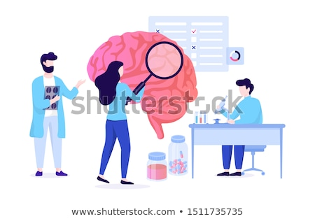 Neurology Medicine Onboarding Elements Icons Set Vector Stock photo © pikepicture