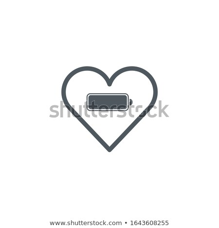 Heart with Battery Charging icon . Valentines day concept. Stock Vector illustration isolated on whi Stock photo © kyryloff