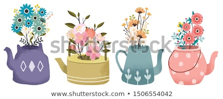 Leaves in Pot Natural Decoration for Cafe Vector Stock photo © robuart