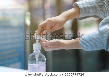 Gel alcohol in pump bottle for hand wash sanitizer cleaning agai Stock photo © snowing