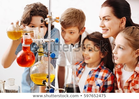 Boy in science class. The child is engaged in science Stock photo © galitskaya