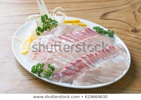 Stock photo: fresh korean style raw sea bream sashimi
