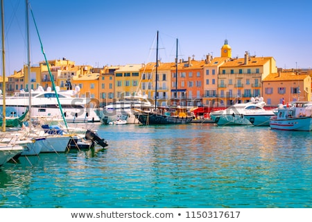 Saint Tropez, French riviera. Yachting harbor of Saint Tropez at Stock photo © xbrchx