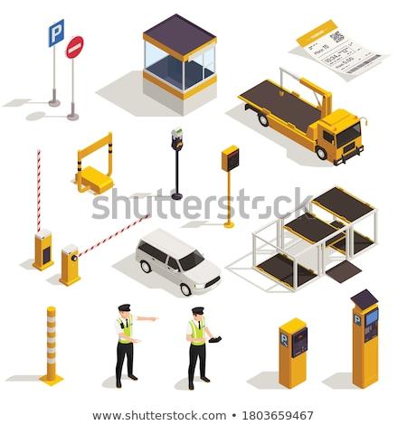 Verboden parkeren isometrische icon vector teken Stockfoto © pikepicture