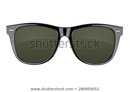Noir lunettes de soleil plastique verres blanche Photo stock © farres