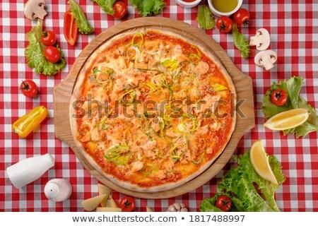 Pizza Atlantic salmon  Stock photo © fanfo