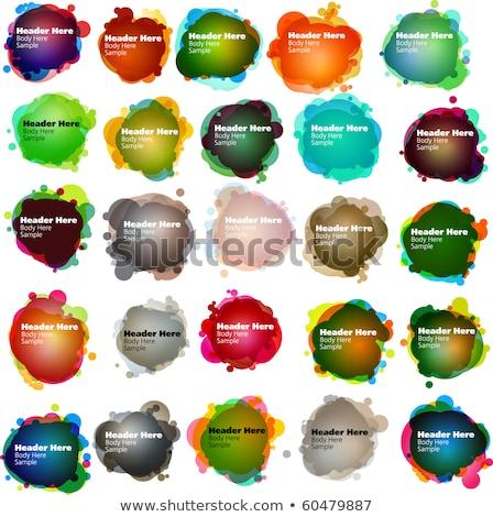 vicces · szövegbuborékok · internet · narancs · felirat · zöld - stock fotó © beholdereye