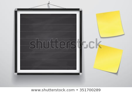 Chalkboard with yellow note stock photo © broker