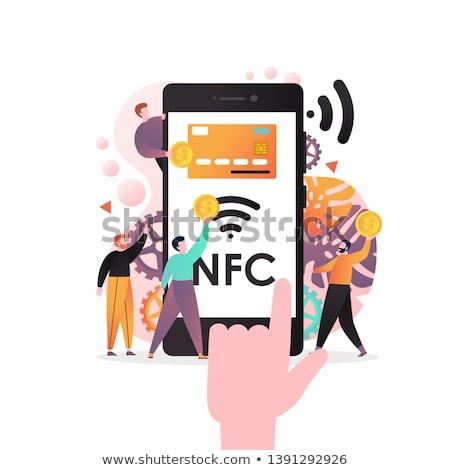 NFC enabled mobile phone Stock photo © kbuntu