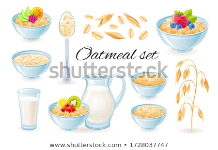 oatmeal with fruits stock photo © m-studio