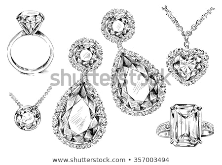 Kaart platina ring diamant vector Stockfoto © carodi