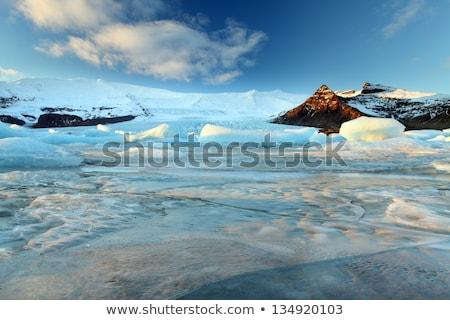 воды природы пейзаж снега горные синий Сток-фото © ollietaylorphotograp
