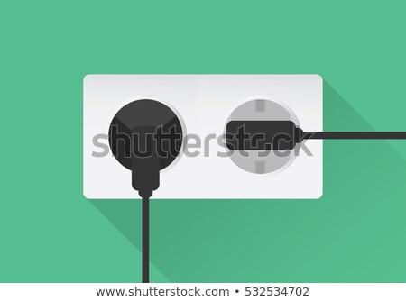 шнура · множественный · европейский · электрических · совета · схеме - Сток-фото © ruslanomega