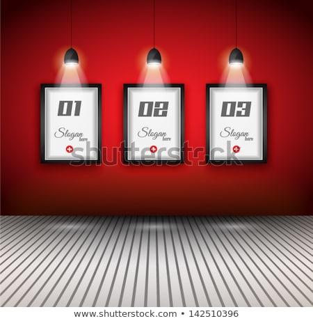 Eredeti infografika belső művészeti galéria megoldások fal Stock fotó © DavidArts
