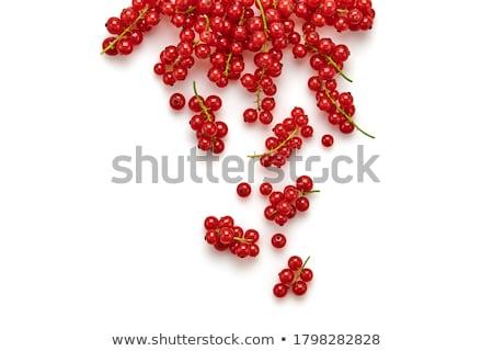 Foto stock: Groselha · pormenor · verde · comida · vermelho