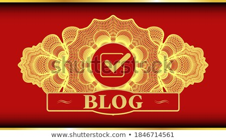 abstract artistic golden chat icon stock photo © pathakdesigner