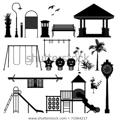 Big set of garden benches.  Vector illustration Stock photo © leonido