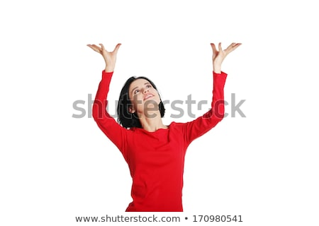 Businesswoman holding her hand up Stock photo © photography33