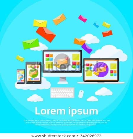 email mailing laptop tablet Stock photo © burakowski