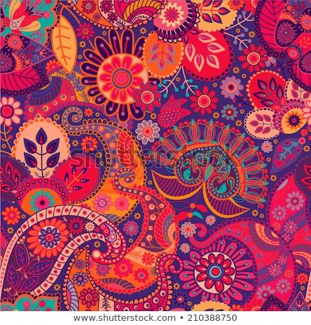 Seamless bright indian pattern Stock photo © sahua