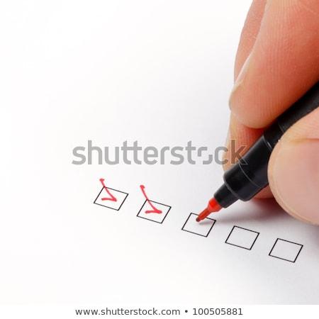 チェック · ボックス · 失敗した · クロス · 黒板 - ストックフォト © gemenacom