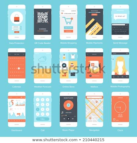 мобильность связи шаблон Элементы отдельно Сток-фото © sgursozlu