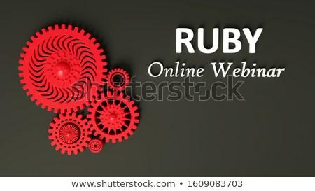 çevrimiçi · mesafe · öğrenme · dizüstü · bilgisayar · ekran · iş - stok fotoğraf © tashatuvango
