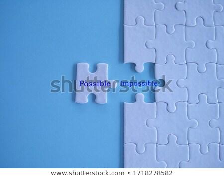 Słowo niebieski kolor tom puzzle 3d ilustracji Zdjęcia stock © tashatuvango