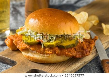 fried cod fish sandwich stock photo © arenacreative