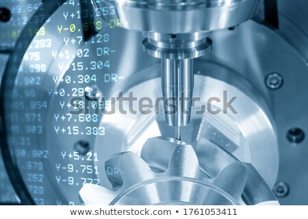 software technology on metal gears stock photo © tashatuvango