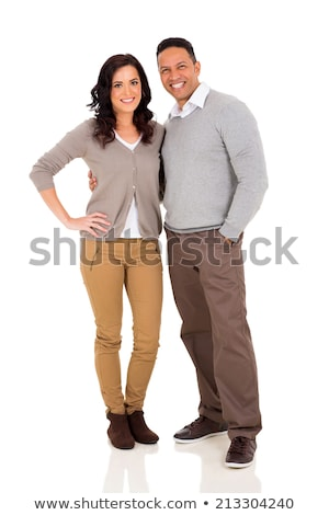cutout image of an elegant couple in studio Stock photo © feedough