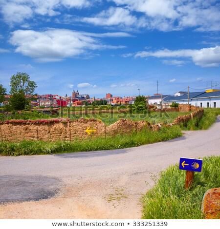 Saint James Way sign in Astorga Leon at Castilla Stock photo © lunamarina