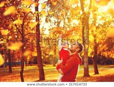 hija · padre · parque · otono · familia · ninas - foto stock © Paha_L