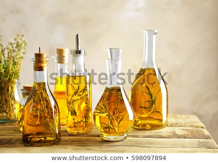 olive oil flavored with rosemary stock photo © marimorena
