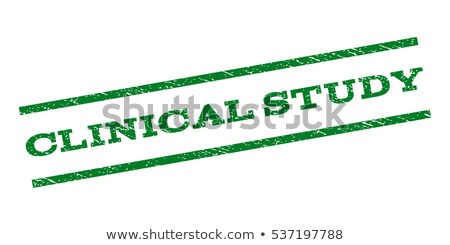 Clinical Study-stamp Stock photo © carmen2011